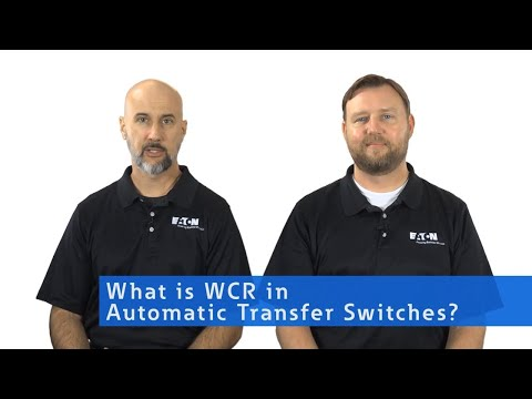 What is WCR in a Transfer Switch?