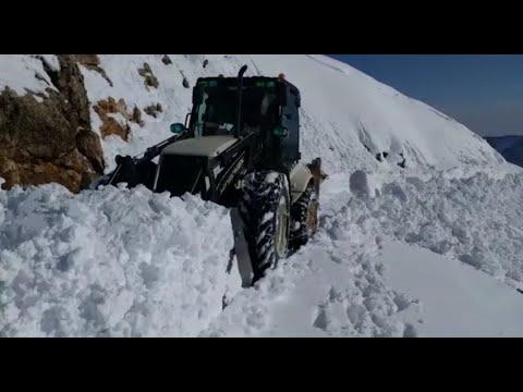 Nemrut Dağı'nda Yol Açma Çalışmaları Devam Ediyor