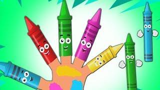 мелки палец семья | ребенок песня | Рифма для детей | Crayon Song | Kids Poem | Crayon Finger Family