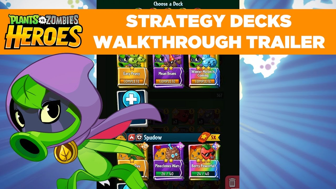 Strategy Decks Walkthrough Trailer Plants Vs Zombies