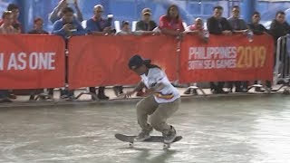 Margielyn Didal Highlights | Skateboarding Game of SKATE W - Round of 4 | 2019 SEA Games