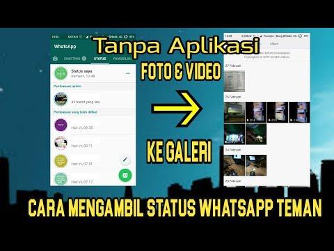 cara mengambil status video di wa
