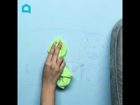 How to Clean Crayon off Your Wall in Under a Minute