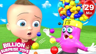 Teach colors and numbers with Gumballs | +More Nursery Rhymes | Learn with BST