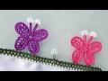Kanatlı Kelebek Tığ Oyası Yapımı