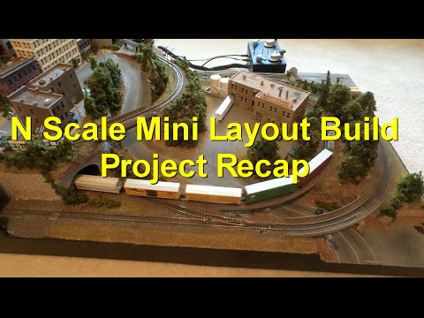 N Scale Mini Layout Build Recap