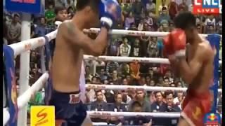 ពិតជាវាយខ្លាំងមែន ឃឹម ឌីម៉ា វាយកីឡាករថៃឡើងសន្លប់- Khmer Boxing 2018 - CNC TV Boxing