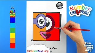 Numberblocks Face Painting | Numberblocks One and Two | Fun House Toys Free | Coloring Pages
