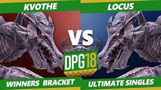 Smash Ultimate Tournament - TGS   Locus (Ridley) Vs. Kvothe (Ridley) DPOTG18 SSBU Winners Top 96