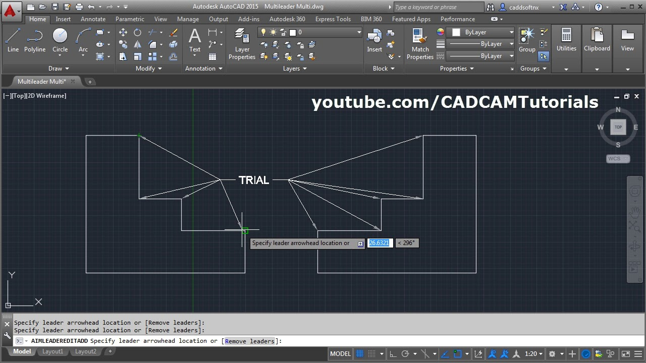 AutoCAD Multileader with Multiple Arrows | AutoCAD Multileader Annotative |  Add Leader