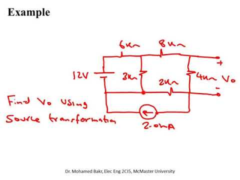 Elec Eng 2CI5: Lecture 16, Source Transformation and Maximum Power Transfer
