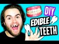 DIY Edible Teeth! | EAT Your Teeth & Gums | How To Make EATABLE Tooth & Mouth Tutorial
