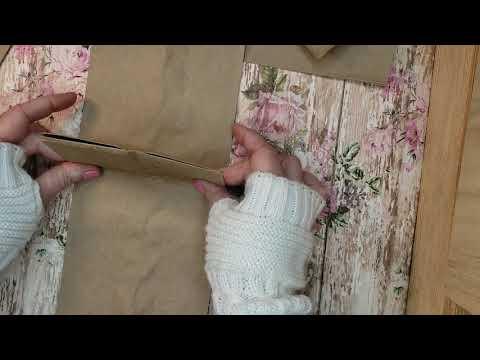 Paper bag mini album tutorial,  small lunch bag albums