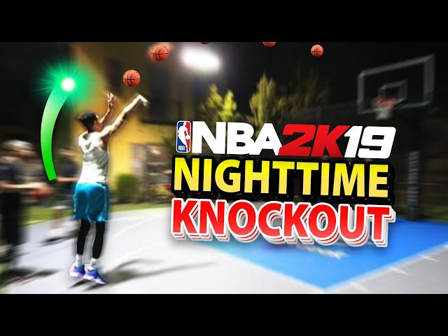 *CRAZY RULES* Night-time Knockout Basketball vs. NBA 2K YouTubers