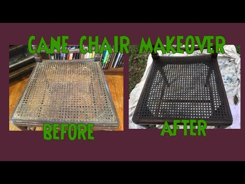 Cane Chair Makeover- How To Stain Cain -Wicker - Rattan *Make Old Cane Look New & Less Brittle