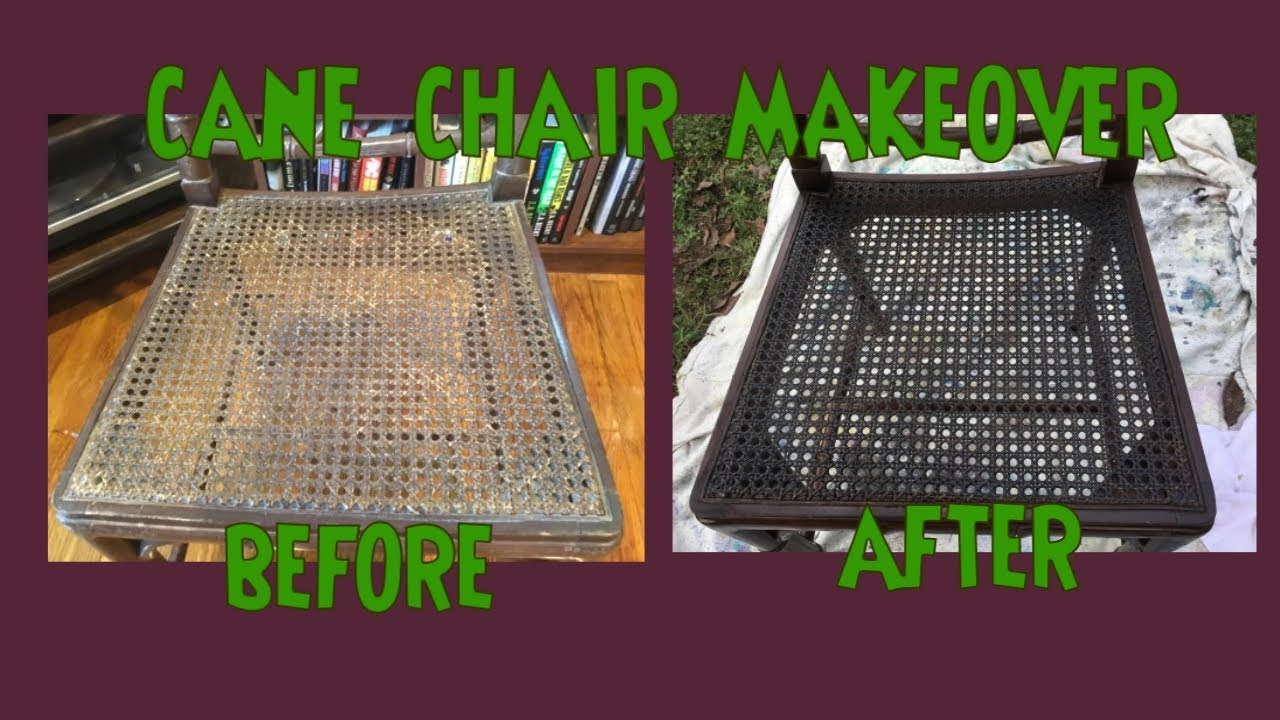 Cane Chair Makeover How To Stain Cain Wicker Rattan Make Old Look New Less Brittle