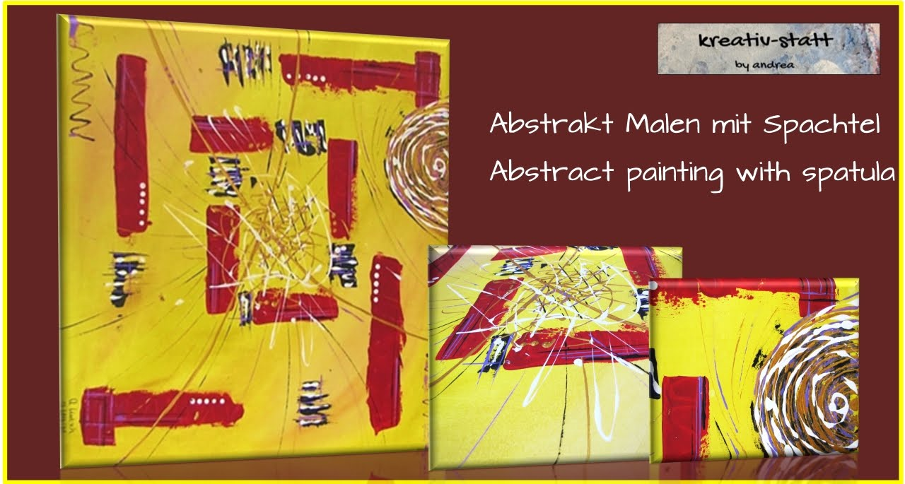 Kreativ-statt Malen Acryl Abstrakt Spachtel / Painting