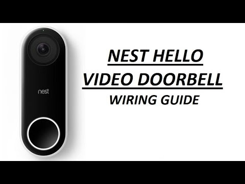 Nest Hello video doorbell - wiring guide with no chime - YouTube