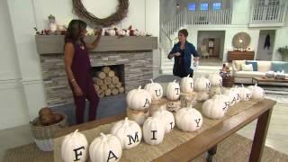 ED On Air Glazed Ceramic Harvest Phrase Pumpkins by Ellen DeGeneres with Jane Treacy