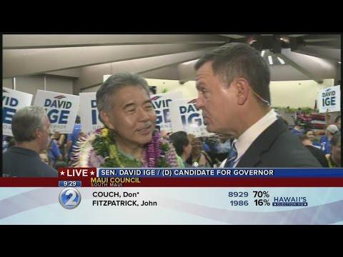 Democratic gubernatorial nominee David Ige