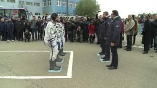 Доклад экипажа ТПК  Союз МС 02  о готовности к полёту