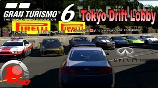 Gran Turismo 6 | Online Tokyo Drift Lobby | SLAPTrain`s G35  (Live Com)