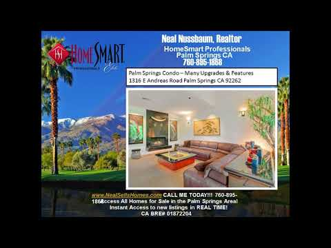 Palm Springs Condo For Sale Many Upgrades and Home Theater 2 BR 2.5 BA Palm Regency