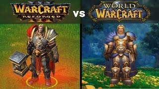 Warcraft 3 Reforged models side by side with World of Warcraft models