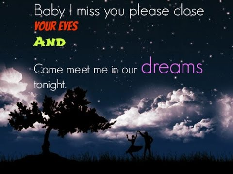 Cute good night quotes & messages for her/him - YouTube