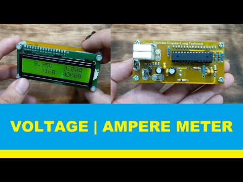 Make Simple Voltage Ampere Meter LCD 16X2, Small And Beauty | Share All