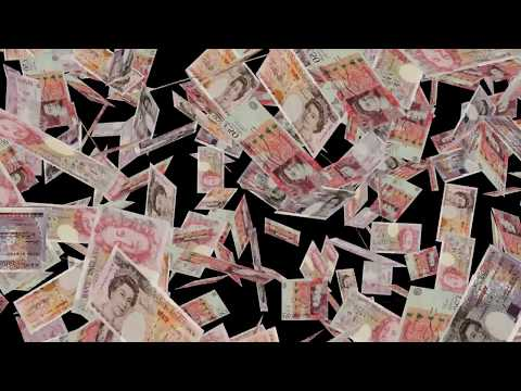 United Kingdom | British Currency #England #Pounds #£ Falling Closeup | Great Britan Currency Pounds