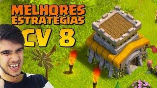 MELHORES ESTRATÉGIAS DE ATAQUE PRA CV 8 DO CLASH OF CLANS !!