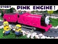Thomas and Friends Toy Trains Pink Game with funny banana Minions - Train Toys for kids  TT4U