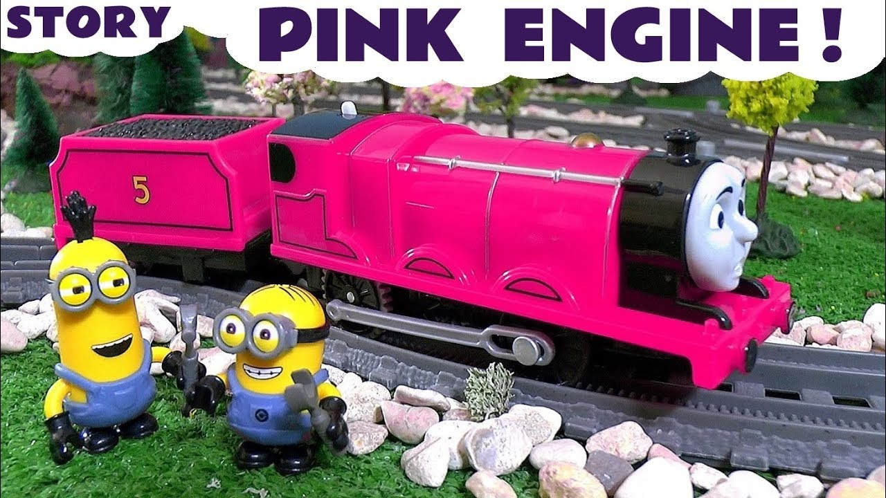 thomas and friends toy trains pink game with funny banana