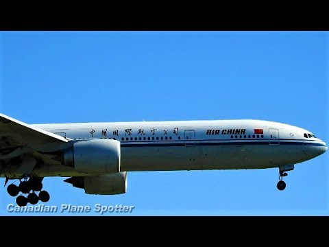 Air China 777-300 in Action at Montreal-Trudeau Int'l Airport