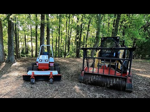 Ventrac And Forestry Mulcher Backyard Cleanup