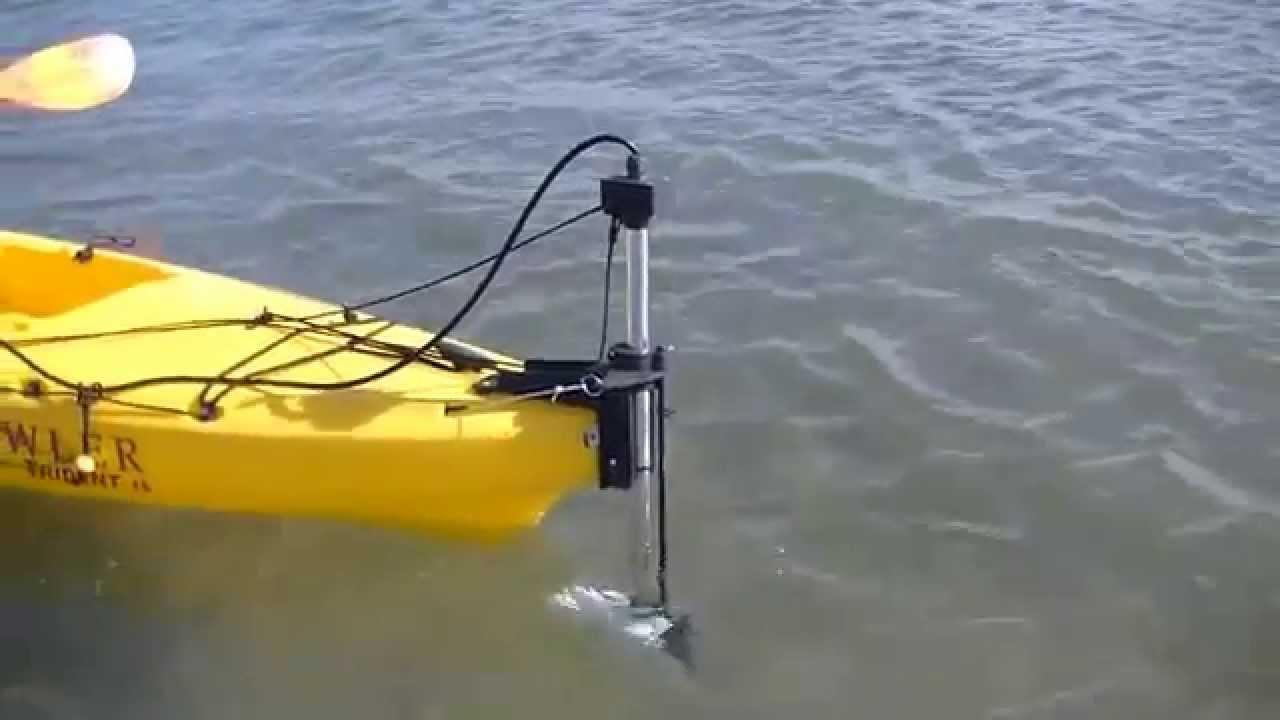 Kayak Motor Trolling Motor Flexi Fin Youtube
