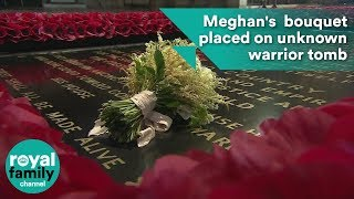 Meghan Markle's royal bridal bouquet placed on tomb of unknown warrior as per tradition thumbnail