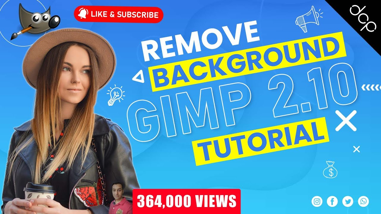 How to remove background from image using GIMP 2 10 - [ Remove Background  Tutorial ]