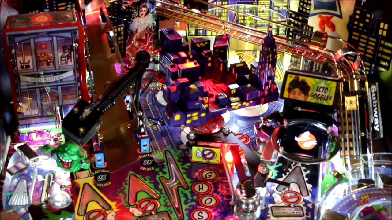 Repeat Stern Ghostbusters Pinball machine Slime River Mod by