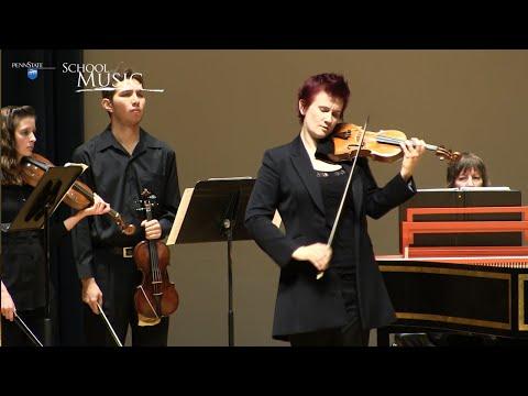 Penn State Baroque Ensemble: Vivaldi's Violin Concerto in G Minor, RV 315