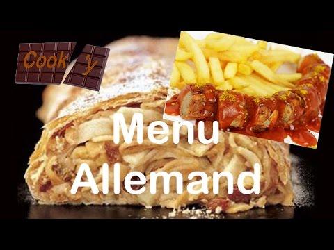 Menu allemand youtube for Cuisine allemande