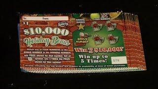 24 Days Of Scratchers 2018 Day 15: FIFTEEN $1 HOLIDAY BONUS FL Lottery Tickets