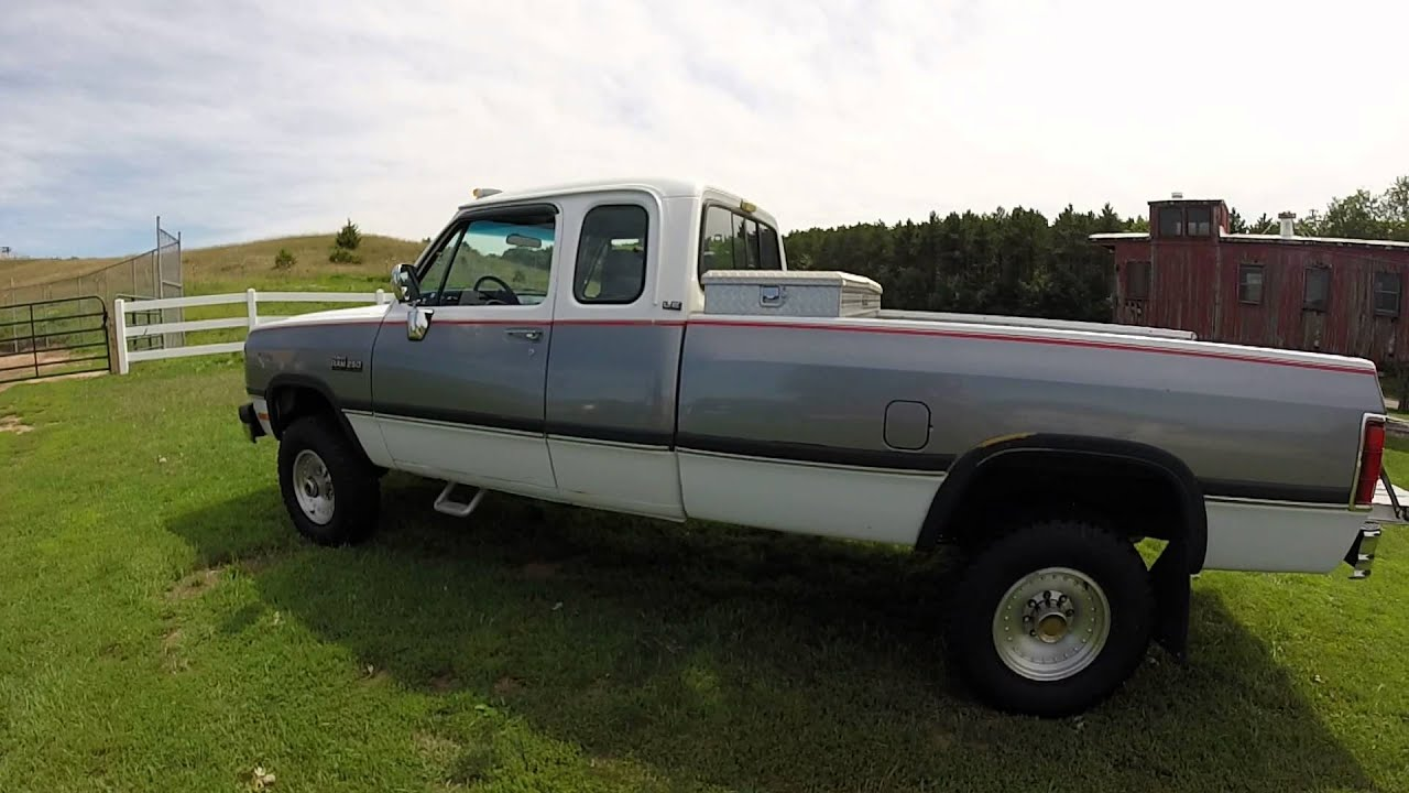 dodge 1993 w250 12v cummins 5 9 for sale youtube. Black Bedroom Furniture Sets. Home Design Ideas