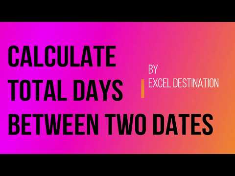 Calculate Days Between Dates In Excel - Easy Example