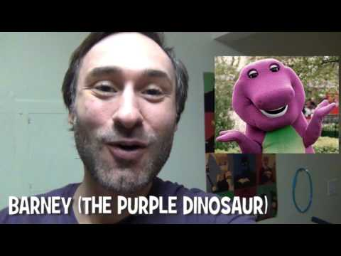 365 Days of Character Voices - BARNEY the Purple Dinosar (DAY20)