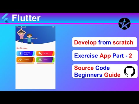 Complete Exercise App - (Part-2) [Positioning the Image] - Flutter tutorial