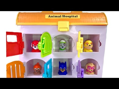 Thumbnail: Best Learning Colors Video for Children with Paw Patrol Super Pups Mashems in Animal Hospital