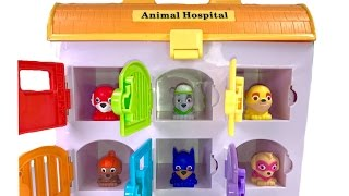 Best Learning Colors Video for Children with Paw Patrol Super Pups Mashems in Animal Hospital