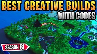 Best Fortnite Creative Builds Season 8 *WITH CODES* feat. Compact Combat, Titanic, Avengers Tower